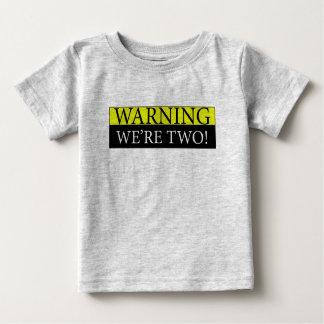 Camiseta Para Bebê weÃ•re de advertência dois