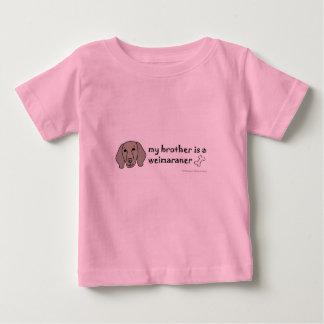 Camiseta Para Bebê weimaraner