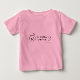 Camiseta Para Bebê westie