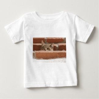 Camiseta Para Bebê Wildcat novo curioso da atenção dos olhos de gato