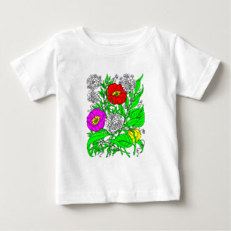 Camiseta Para Bebê Wildflowers 2