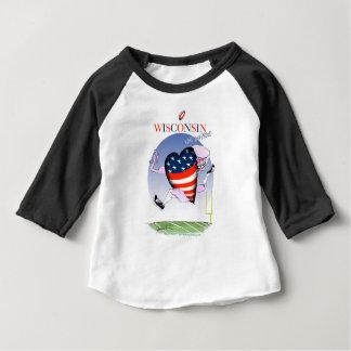 Camiseta Para Bebê Wisconsin alto e orgulhoso