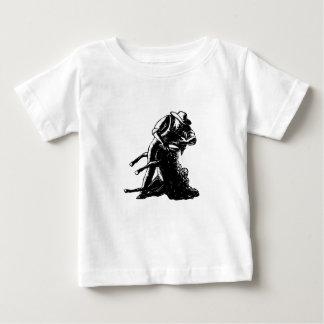 Camiseta Para Bebê Woodcut de corte dos carneiros do tosquiador