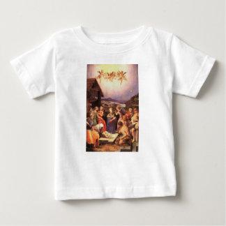 Camiseta Para Bebê Worship_of_the_shepherds_by_bronzino
