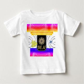 Camiseta Para Bebê X marcas o t-shirt do bebê do monograma do ponto