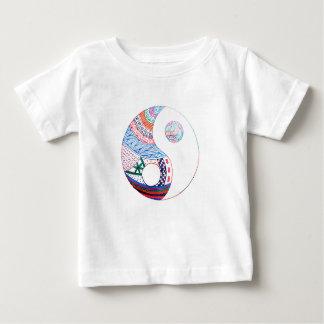Camiseta Para Bebê Yang ying colorido, espiritual