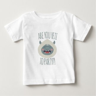 Camiseta Para Bebê Yeti a party