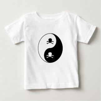 Camiseta Para Bebê Yin e crânios de yang
