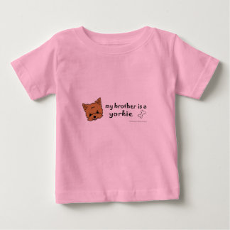 Camiseta Para Bebê yorkie
