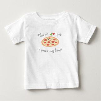 Camiseta Para Bebê You've obteve a uma pizza meu coração chalaça