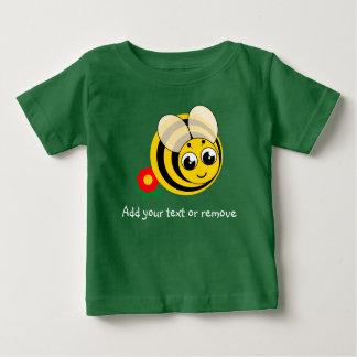 Camiseta Para Bebê Zangão listrado preto e amarelo dos desenhos