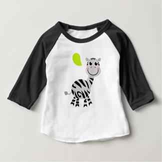 Camiseta Para Bebê Zebra bonito das crianças