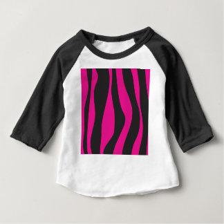 Camiseta Para Bebê Zebra cor-de-rosa