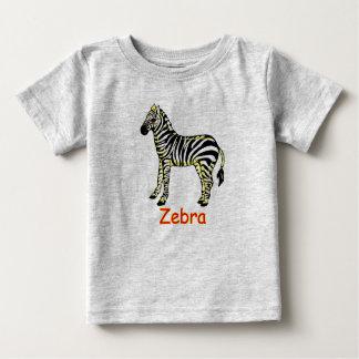 Camiseta Para Bebê Zebra do vetor