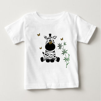 Camiseta Para Bebê Zebra e borboletas