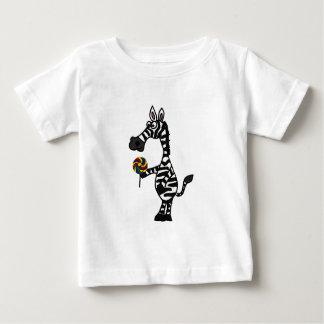 Camiseta Para Bebê Zebra Funky do BB com um equipamento do bebê do