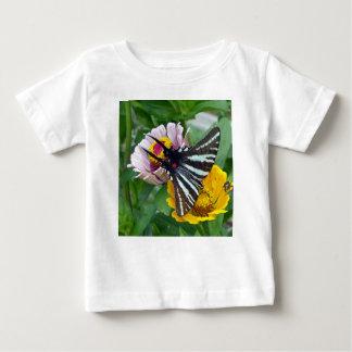 Camiseta Para Bebê Zebra Swallowtail+Besouro japonês
