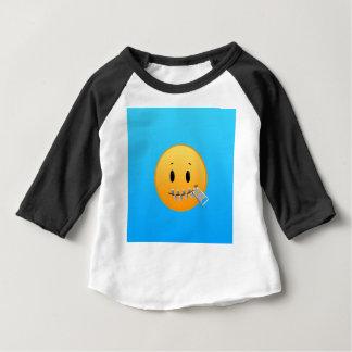 Camiseta Para Bebê Zipper Emoji