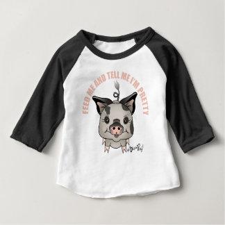 Camiseta Para Bebê ZivaPig Alimentação-mim