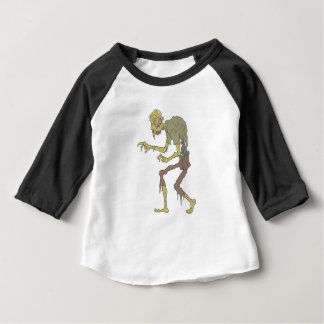 Camiseta Para Bebê Zombi assustador com pele de derretimento com