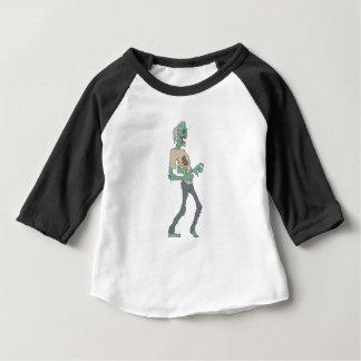 Camiseta Para Bebê Zombi assustador descalço com a carne Rotting