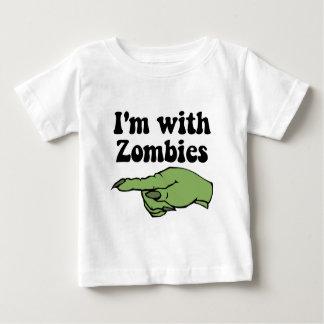 Camiseta Para Bebê Zombis do Dia das Bruxas engraçado