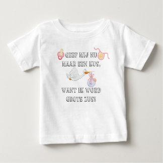 Camiseta Para Bebê Zus do grote da palavra de Ik