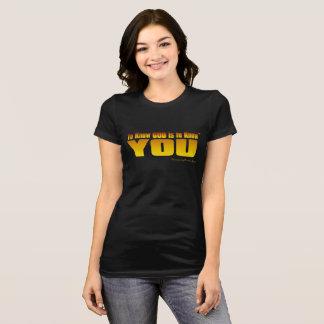 Camiseta Para conhecer o deus é conhecê-lo (o TM)