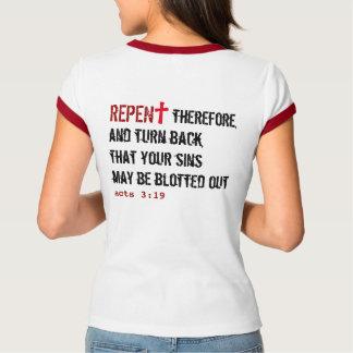 Camiseta para ELA (adulto): ARREPENDIDO + Actua o 3:19