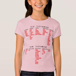Camiseta para ELA (juventude): Livros da bíblia