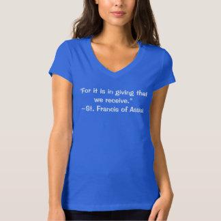 Camiseta Para ele consistimos na doação essa nós recebemos