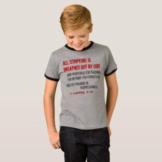 Camiseta para ELE (juventude): Toda a escritura é respirada
