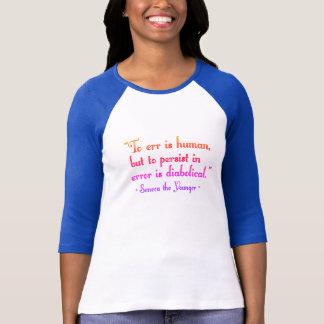 """Camiseta """"Para errar"""" arco-íris QuoTee para nerd da palavra"""