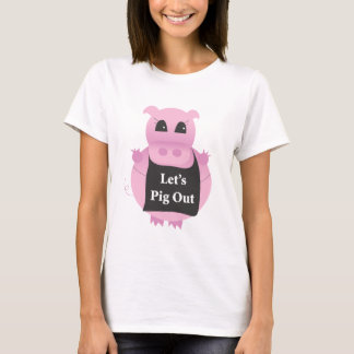 Camiseta Para fora-tshirt do porco