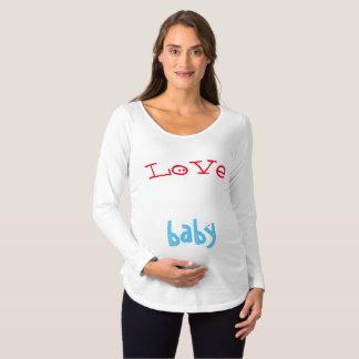 Camiseta Para Gestantes Ame meu bebê