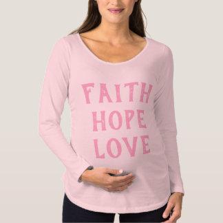 Camiseta Para Gestantes Amor da fé da esperança