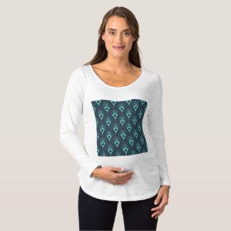 Camiseta Para Gestantes art deco, nouveau da arte, vintage, cerceta,