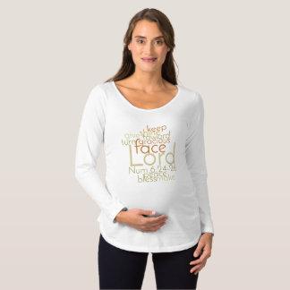 Camiseta Para Gestantes Arte sacerdotal cristã da palavra da bênção