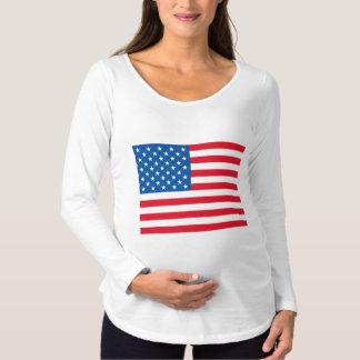Camiseta Para Gestantes Bandeira dos EUA