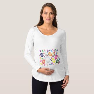 Camiseta Para Gestantes Bonito feliz