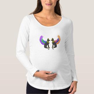 Camiseta Para Gestantes cão egípcio com asas