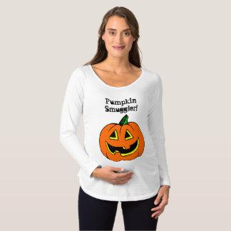 Camiseta Para Gestantes Contrabandista da abóbora