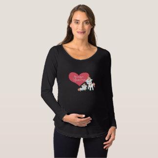 Camiseta Para Gestantes Crescendo um unicórnio - design de maternidade