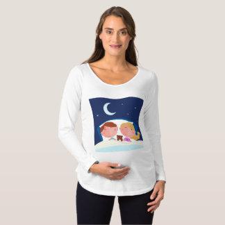 Camiseta Para Gestantes Gêmeos que têm um t-shirt sadio da maternidade do