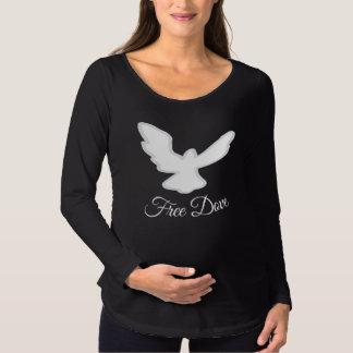 Camiseta Para Gestantes Livre a pomba