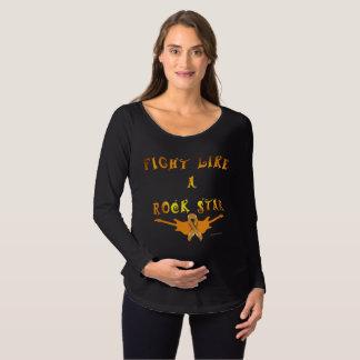 Camiseta Para Gestantes Luva longa de maternidade da estrela do rock do