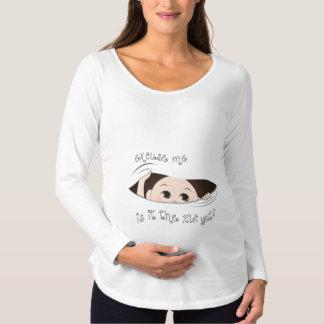 Camiseta Para Gestantes Maternidade engraçada - é tempo contudo SUA DATA
