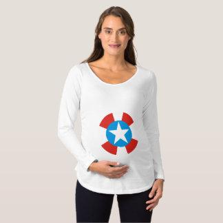 Camiseta Para Gestantes Memorial Day americanos de maternidade