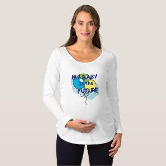 Camiseta Para Gestantes Meu bebê é o T de maternidade futuro