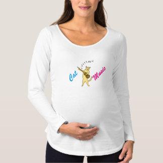 Camiseta Para Gestantes Música do gato